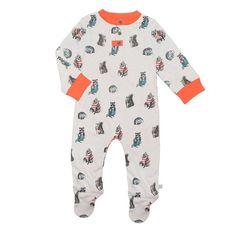 Babygrows & Sleepsuits - Finn + Emma Footie - Woodland