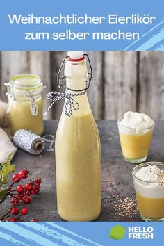 Cocktail Recipes, Cocktails, Long Drink, Eggnog Recipe, Schnapps, Christmas Drinks, Easter Brunch, Party Drinks, Perfect Food
