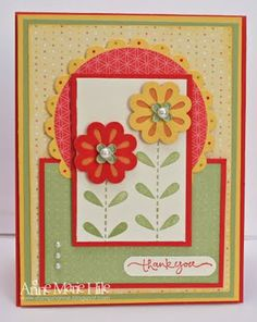Stampin' Anne Saturday, August 20, 2011Sunny Garden for Our Creative Corner Blossom Bouquet Triple Layer Punch