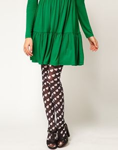 ASOS White Heart All Over Tights