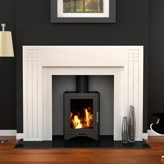 like the fire and, but think will need to have this mantel made. will look good in a 1930s semi as is a little art deco.