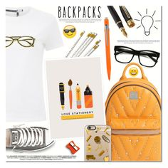 """Rule School: Cool Backpacks II"" by anna-anica ❤ liked on Polyvore featuring MCM, Sportmax, ZeroUV, Converse, Casetify, Caran D'Ache, backpacks, contestentry and PVStyleInsiderContest"