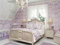 Purple toile