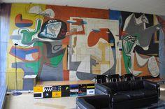 Le Corbusier - Pavillon Suisse - common room LC mural   by ijnicholas