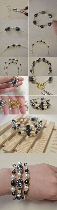 How do You Make an Easy 3 Strand Beaded Bracelet at Home from LC.Pandahall.com