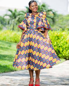 2020 African print dresses are ever available for flawless looks and fashion trends keep changing with time, this is why I've selected these latest styles to African Party Dresses, Latest African Fashion Dresses, African Print Dresses, African Print Fashion, African Dress, African Wear, African Style, African Beauty, Ankara Dress Styles