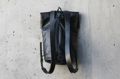 Moto Rolltop Backpack in Noir A 17, Leather Backpack, Backpacks, Shoe Bag, Sew, Bags, Future, Inspiration, Style