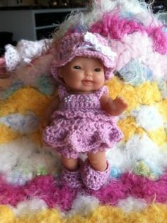 New Off The Hook 7 Lil Babies Berenguer Doll Crochet Patterns | eBay