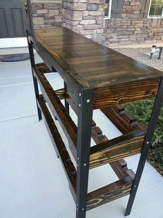 Reclaimed Pallet Table With Wine Rack By Repalletwood On Etsy Wood