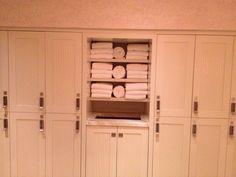 towel shelves  the built in hamper