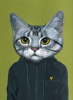 Cats in Clothes, by Heather Mattoon (the whole series is great). This reminds me of my old epileptic cat, Tenner.