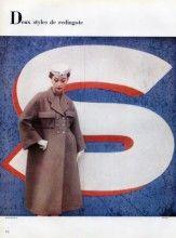 Balenciaga 1952 Redingote, Photo Pottier, Fashion Photography