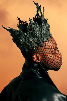 """""Sovereign"" for WONDERLAND MAGAZINE (SUMMER photo: david uzochukwu stylist: mattew josephs models: londone meyers, leomie anderson, & more"" Black Pics, Raleigh Ritchie, Editorial Fashion, Fashion Art, King Of Wands, Fotografie Portraits, Black Models, Headgear, Headdress"