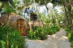 Yab Yum: A Wellness-Focused Hideaway Amid Nature on Goa& Ashwem Beach: A Tranquil Hideaway Amid Nature Goa India, India Trip, Places To Travel, Places To Visit, Goa Travel, Beach Cottages, Eco Friendly, Vacation, Landscape