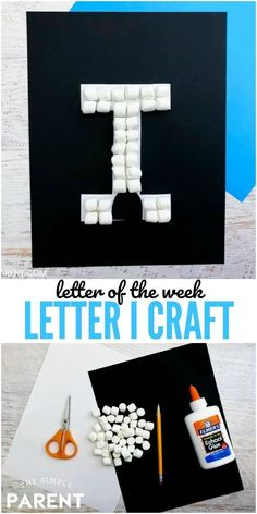 Letter of the Week Crafts - Letter I Craft: I is for Igloo. Use this letter I activity as part of your preschool letter of the week alphabet or use it when you study cold weather, ice and other science concepts! Preschool Letter Crafts, Alphabet Letter Crafts, Abc Crafts, Alphabet Book, Spanish Alphabet, Letter Tracing, Letter Art, Toddler Crafts, Kids Crafts