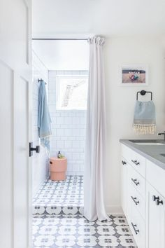 Gray Malins Daisy and White Wash Bathroom by Kate… | Fireclay Tile