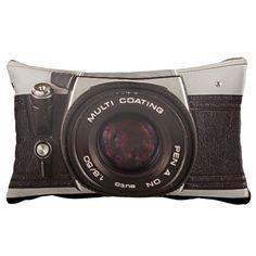 80's camera pillow