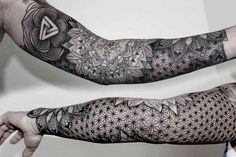 """18 Incredibly Intricate Geometric Tattoos - """"I have clients from all over the world; Australia, Africa, America, South America, and the Middl - Tattoos Bein, Body Art Tattoos, Tribal Tattoos, Tatoos, Ink Tattoos, Skull Tattoos, Trendy Tattoos, Tattoos For Guys, Ben Volt Tattoo"""