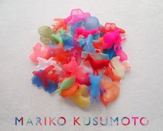 We are pleased to announce a third exhibition of continuing explorations in translucent textile jewelry by Mariko Kusumoto. Experience the ethereal forms of her jewelry in bright, shimmering fabric...
