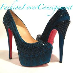 Fashion Lover Consignment - Christian Louboutin - Peacock Decorapump