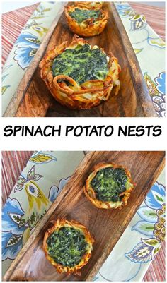 Spinach Potato Nest - Crispy nest filled with creamy spinach #passover…