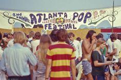 Crowd at the Atlanta Pop Festival, 1970.