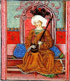 Mária I (1371-1395), Queen of Hungary (1382-1385, 1386-1395) in her own right. She was a daughter of King Ludwik I of Hungary & Poland and his wife, The Princess Elizabeta of Bosnia. She was the wife (1386-1395) of Sigismund of Luxembourg (King Zsigmond I as her co-ruler, later Holy Roman Emperor Sigismund I). She had no children.