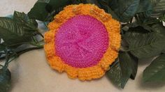 Deluxe Mesh & Cotton Pink and Orange Dish by TheFlyButterFactory, $3.00
