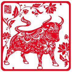 Beautiful illustration of the Ox... Geez I have the stance of the Ox even. LOL!