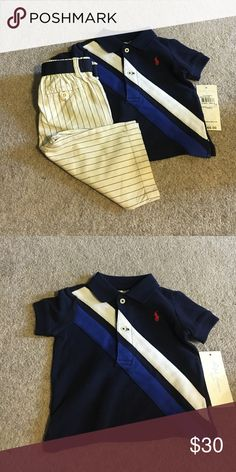 RL outfit Toooo cute!!! Pinstripe pants!!! Size 3m Ralph Lauren Matching Sets