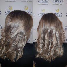 Natural Ashy color with Wella illumina color at Cielo Salon in East Aurora NY