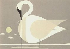Trumpeter Swan is limited edition serigraph signed by Charley Harper. The serigraph dimensions are x for paper and x for the image. Charley Harper, Dwell On Design, Trumpeter Swan, Castor And Pollux, Bird Logos, Bird Illustration, Animal Illustrations, Art Lessons, Framed Art
