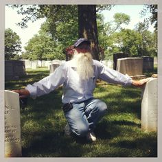 Day 4:time #rethinkchristmas my father at the graves of his father and uncle who died in WWII the year he was born.