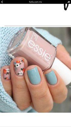 Essie Go go geisha & Udon know me // It's oh so sweet, shhh, shhh . – Otaku girl ❤🌸 Kirizaki neko Essie Go go geisha & Udon know me // It's oh so sweet, shhh, shhh . essie fall 2016 go go geisha udon know me pink and blue flower floral nail art Spring Nail Art, Nail Designs Spring, Nail Art Designs, Nails Design, Spring Design, Cute Spring Nails, Flower Nail Designs, Nails With Flower Design, Fall Nail Art Autumn