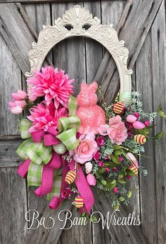 Easter Wreath, Easter Decor, Easter Wall Hanging, Spring Wreath, Spring Decor, Spring Floral, Easter Floral Want your door/Wall/entry to stand out? Well make a stunning statement with this unique styled wreath. Sure to bring charm & beauty to your home or office. Measuring XL at 32