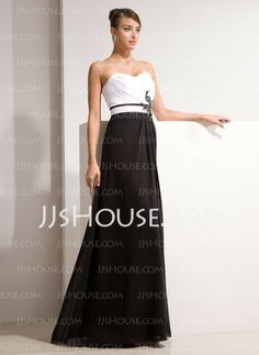 Evening Dresses - $146.99 - Sheath Sweetheart Floor-Length Chiffon Evening Dress With Ruffle Beading Appliques (017014461) http://jjshouse.com/Sheath-Sweetheart-Floor-Length-Chiffon-Evening-Dress-With-Ruffle-Beading-Appliques-017014461-g14461