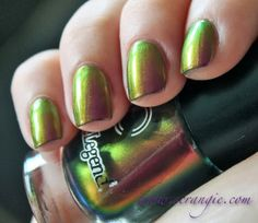 Dance Legend 092 Roz Dance Legend's Chameleons collection is amazing. There are five shades, and each one is an extremely intense m. Nails To Go, Dance Legend, Chameleons, Nail Polish, Beauty, Beautiful, Chameleon, Beauty Illustration, Finger Nail Painting