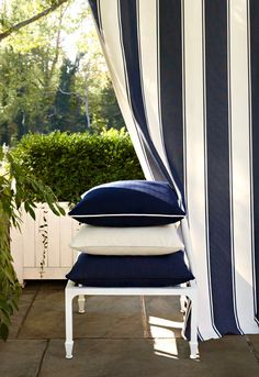 Paloma Herringbone in Navy (65940), Monte Carlo Weave in Coconut (65884), Cap Ferret Weave in Navy (65934) and Cannes Awning Stripe in Denim (65892) http://www.fschumacher.com/collections/cote-d-azur.aspx