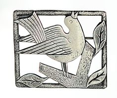 Art Deco sterling brooch w/bird Wiener Werkstatte style design. Click on the image for more information.