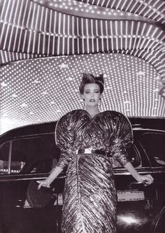 Krizia dress, 80s Vogue