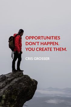 Opportunities don't happen. You create them. Chris  What opportunity will you create today?  #myOneYearChallenge #weightlossjourney #work #goals #goalsetting #opportunities #socialmedia #marketing