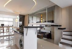 Décoration et Aménagement intérieur pour petits éspaces | This small modern apartment has a clever design that maximizes its use ...