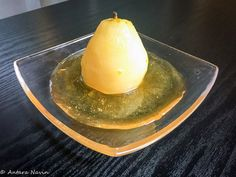 Poached Pears in Honey, Ginger, Orange zest and Cinnamon syrup