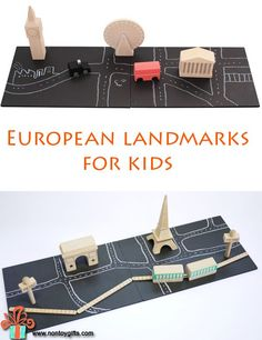 European landmarks for kids to play with and learn about different countries and their unique buildings. Wooden, high quality toys for children - at Non Toy Gifts.