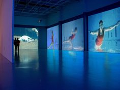 Janet Biggs Video Installation Flight, Vantaa Art Museum, Finland
