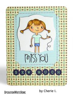 Miss you sew much! http://operationwritehome.org