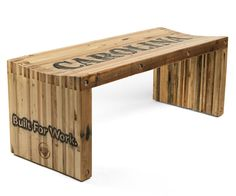 Pallet Wood Slat Bench