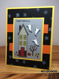 Image result for holiday home stamp halloween card