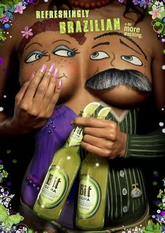"""Body Paint Ads - """"Refreshingly Brazilian, a Bit more exciting"""" that's what the campaign for Brazilian Bit Copa beer claims. Creative Advertising, Advertising Poster, Bra Humor, Sous Bock, Funny Ads, Funny Images, Hilarious, Best Ads, Creative Art"""