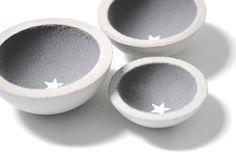 3 kleine Betonschalen Beton Schalen Aufbewahrung Schälchen Stern Sterne Set Betonschalen von Werkstoff auf Etsy